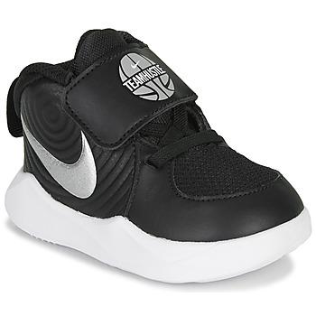 Schuhe Kinder Multisportschuhe Nike TEAM HUSTLE D 9 TD Schwarz / Silbern