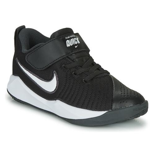 Schuhe Kinder Multisportschuhe Nike TEAM HUSTLE QUICK 2 PS Schwarz / Weiss