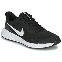 Schuhe Kinder Sneaker Low Nike REVOLUTION 5 GS Schwarz / Weiss