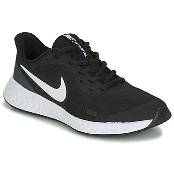 Schuhe Kinder Multisportschuhe Nike REVOLUTION 5 GS Schwarz / Weiss