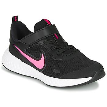 Schuhe Mädchen Sneaker Low Nike REVOLUTION 5 PS Schwarz / Rose