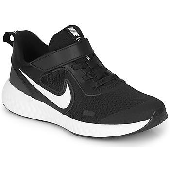 Schuhe Kinder Multisportschuhe Nike REVOLUTION 5 PS Schwarz / Weiss