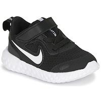 Schuhe Kinder Sneaker Low Nike REVOLUTION 5 TD Schwarz / Weiss