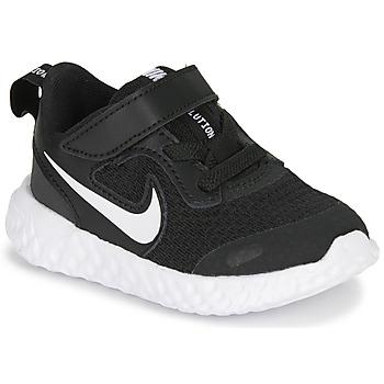 Schuhe Kinder Multisportschuhe Nike REVOLUTION 5 TD Schwarz / Weiss