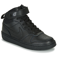 Schuhe Kinder Sneaker High Nike COURT BOROUGH MID 2 GS Schwarz