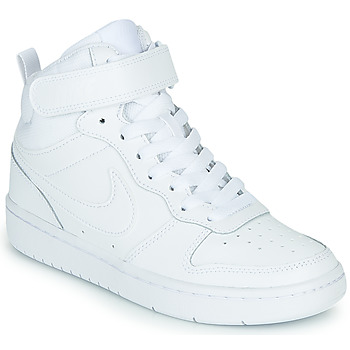 Schuhe Kinder Sneaker High Nike COURT BOROUGH MID 2 GS Weiss