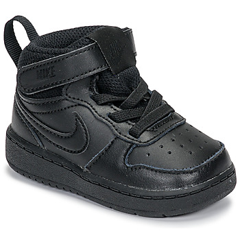 Schuhe Kinder Sneaker High Nike COURT BOROUGH MID 2 TD Schwarz