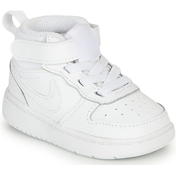 Schuhe Kinder Sneaker High Nike COURT BOROUGH MID 2 TD Weiss