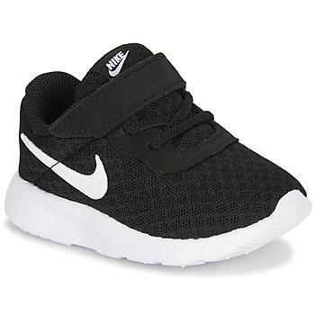 Schuhe Kinder Sneaker Low Nike TANJUN TD Schwarz / Weiss