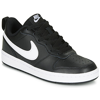 Schuhe Kinder Sneaker Low Nike COURT BOROUGH LOW 2 GS Schwarz / Weiss