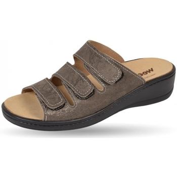 Schuhe Damen Pantoffel Weeger Pantol Art. 14330-44 Wechselfussbett beige met.