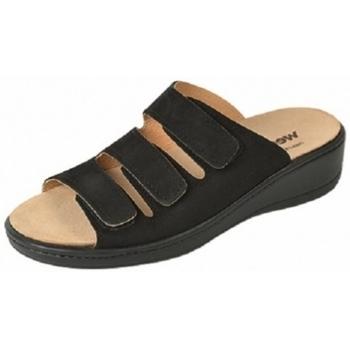 Schuhe Damen Pantoffel Weeger Pantol Art. 14330-20 Wechselfussbett schwarz