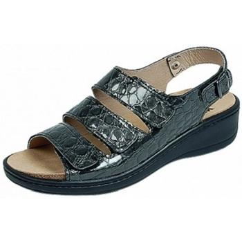 Schuhe Damen Sandalen / Sandaletten Weeger Sandale Art.15331-51 Wechselfb. grau kroko