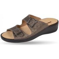 Schuhe Damen Pantoffel Weeger Pantol Art. 14335-44 Wechselfußbett beige met.