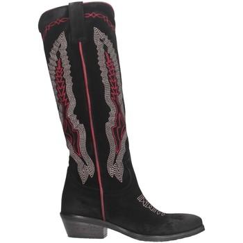Schuhe Damen Klassische Stiefel Metisse TEX247 Texano Frau Schwarz / Rot Schwarz / Rot
