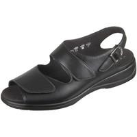 Schuhe Damen Sandalen / Sandaletten Solidus Sandaletten Lia 73038 00098 Vitello 73038 00098 schwarz