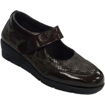 Schuhe Damen Slipper 48 Horas Merceditas Frau Schuhe Leder und Lycra 4 Braun