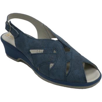 Schuhe Damen Sandalen / Sandaletten Made In Spain 1940 Frauensandalengummi sehr bequemer Rist L Blau