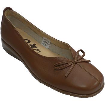 Schuhe Damen Slipper 48 Horas Eröffnungsvamp der Frau mit Spann 48 Hou Braun