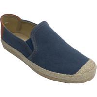 Schuhe Herren Hausschuhe Made In Spain 1940 Schuhmann mit Zehen- und Espartogrenze A Blau
