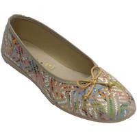 Schuhe Damen Hausschuhe Made In Spain 1940 Frauenschuhe schreiben Ballettschuhe mit Beige