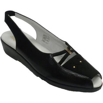 Schuhe Damen Slipper Doctor Cutillas Offene Zehen- und Fersenlycraschaufel de Schwarz