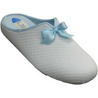 Schuhe Damen Hausschuhe Calzamur Die Winterschuhe der Frauen öffnen sich Blau