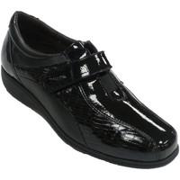 Schuhe Damen Slipper Doctor Cutillas Spezieller Damenschuh aus Leder und Lack Schwarz