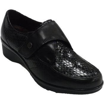 Schuhe Damen Slipper Pitillos Damenschuhe Resthaut und Lackleder Schla Schwarz