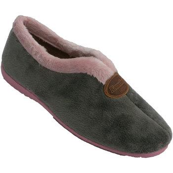 Schuhe Damen Hausschuhe Made In Spain 1940 Geschlossene Ristöffnung des Frauenschuh Grau