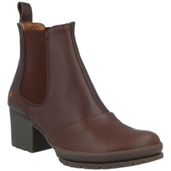 Schuhe Damen Low Boots Art The Art Company Art 1235 Botines Casuales con Tacón de Mujer Braun