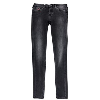 Kleidung Mädchen Slim Fit Jeans Pepe jeans PAULETTE Schwarz