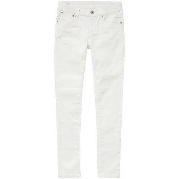Kleidung Mädchen Slim Fit Jeans Pepe jeans PIXLETTE Weiss
