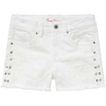 Kleidung Mädchen Shorts / Bermudas Pepe jeans ELSY Weiss