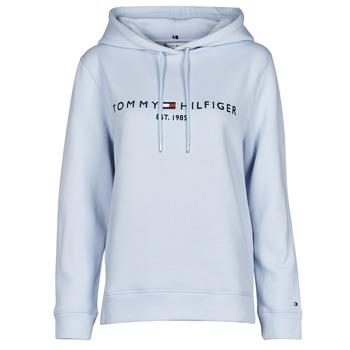 Kleidung Damen Sweatshirts Tommy Hilfiger TH ESS HILFIGER HOODIE LS Blau / Himmelsfarbe
