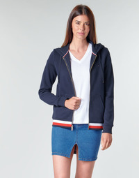 Kleidung Damen Sweatshirts Tommy Hilfiger HERITAGE ZIP THROUGH HOODIE Marine