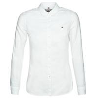 Kleidung Damen Hemden Tommy Hilfiger HERITAGE REGULAR FIT SHIRT Weiss