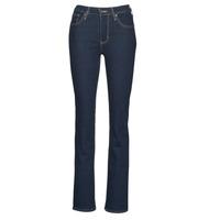 Kleidung Damen Bootcut Jeans Levi's 725 HIGH RISE BOOTCUT Weiss / grau / stahl / Nine