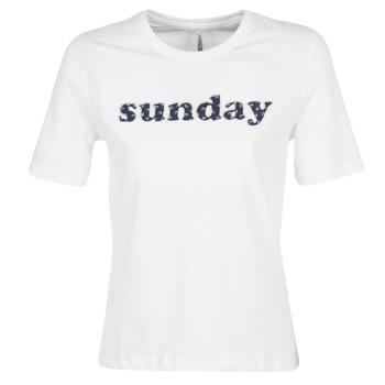 Kleidung Damen T-Shirts Only ONLSANNE Weiss