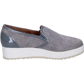 Schuhe Damen Slip on Carmens Padova slip on wildleder grau