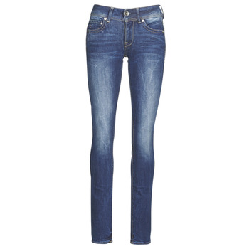Kleidung Damen Straight Leg Jeans G-Star Raw Midge Mid Straight Wmn Blau