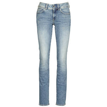 Kleidung Damen Straight Leg Jeans G-Star Raw MIDGE MID STRAIGHT WMN Blau
