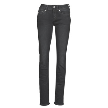 Kleidung Damen Straight Leg Jeans G-Star Raw MIDGE MID STRAIGHT WMN Grau