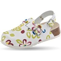 Schuhe Damen Pantoletten / Clogs Weeger ESD-Clog Art. 48325-15 weiss Mult