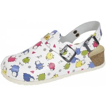 Schuhe Damen Pantoletten / Clogs Weeger ESD-Clog Art. 48325-14 Schafe