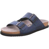 Schuhe Herren Pantoffel Mephisto Offene 6045 nerio navy blau