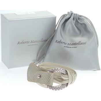 Uhren Damen Armbänder Roberto Mantellassi - Bracciali crema/pietra karung 938 Multicolore