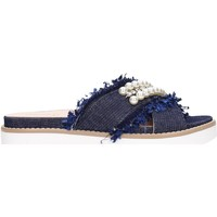 Schuhe Damen Pantoffel Jeannot - Ciabatta blu 37105 Multicolore