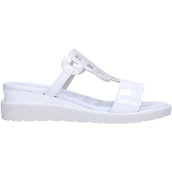 Schuhe Damen Pantoffel Melluso - Ciabatta bianca 037090 Multicolore