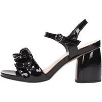 Schuhe Damen Sandalen / Sandaletten Jeannot - Sandalo nero 51126 Multicolore